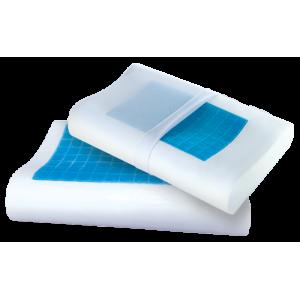 Анатомическая подушка с эффектом памяти OrtoCorrect Termogel XL Plus с гелевой вставкой (58*38*12/14см)